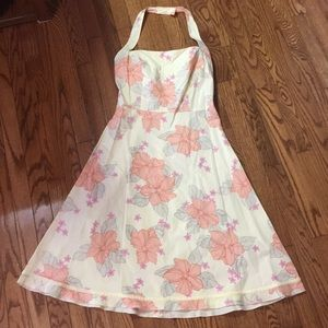 The Limited Halter dress w/flower print size 8
